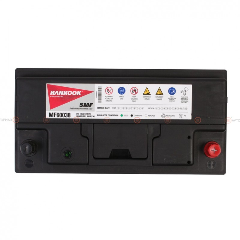 Аккумулятор HANKOOK SMF 6CT 100Ah II-+II MF60038