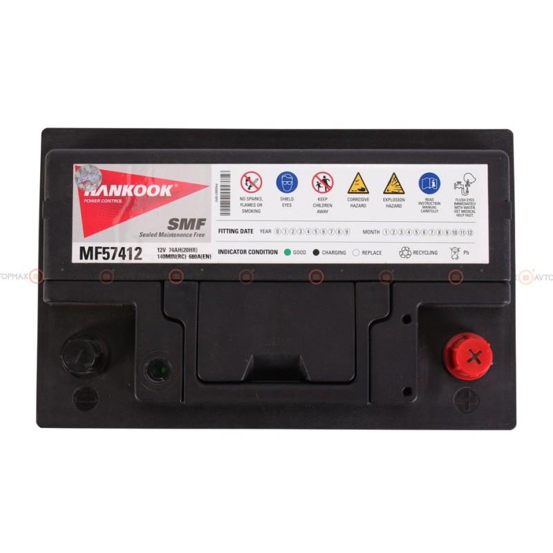 Аккумулятор HANKOOK SMF 6CT 74Ah II-+II MF57412