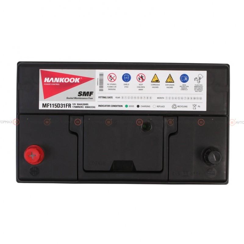 Аккумулятор HANKOOK SMF 6CT 95Ah ASIA II+-II MF115D31FR