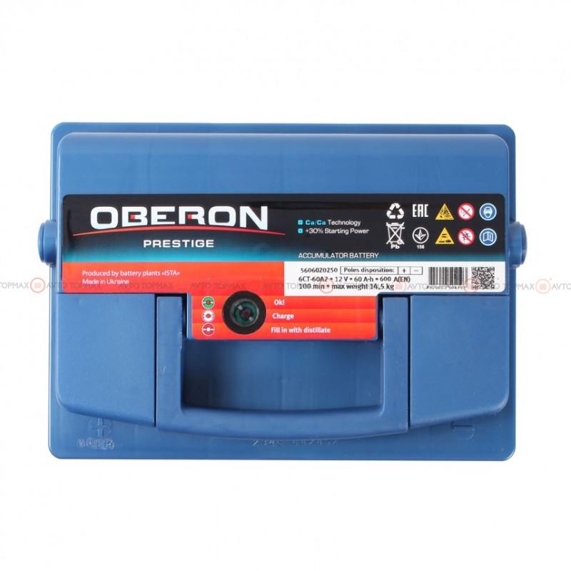 Аккумулятор OBERON Prestige 6CT 60Ah II+-II