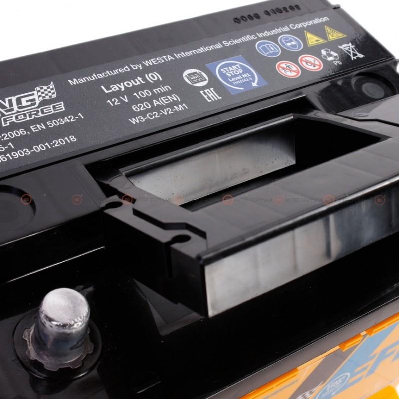 Аккумулятор RACING FORCE Premium EFB 6CT 63Ah Низький II-+II
