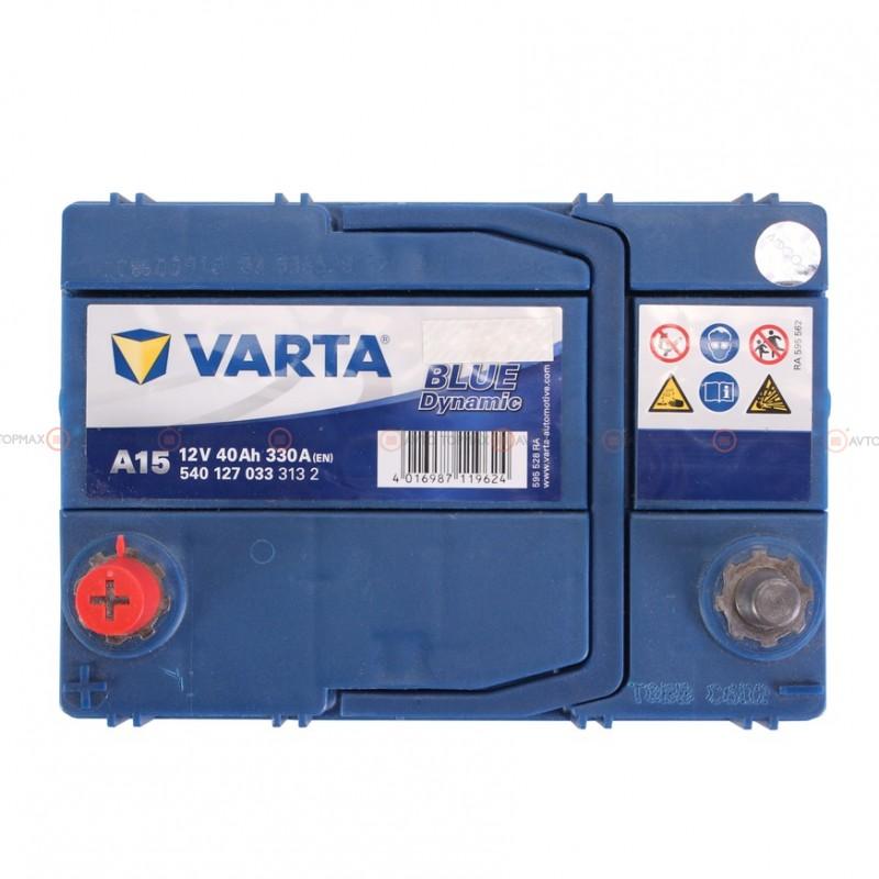 Аккумулятор VARTA Blue Dynamic 6CT 40Ah ASIA II+-II A15 540127033