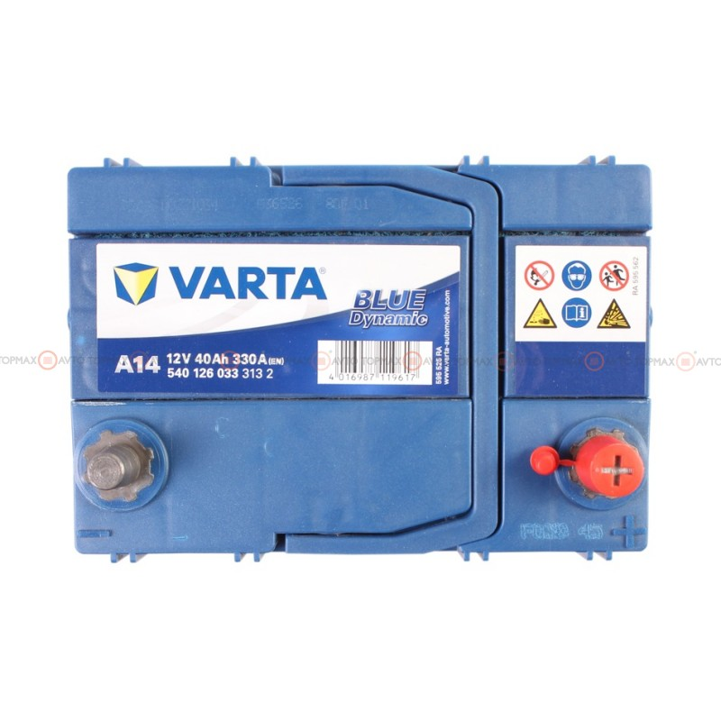 Аккумулятор VARTA Blue Dynamic 6CT 40Ah ASIA II-+II A14 540126033