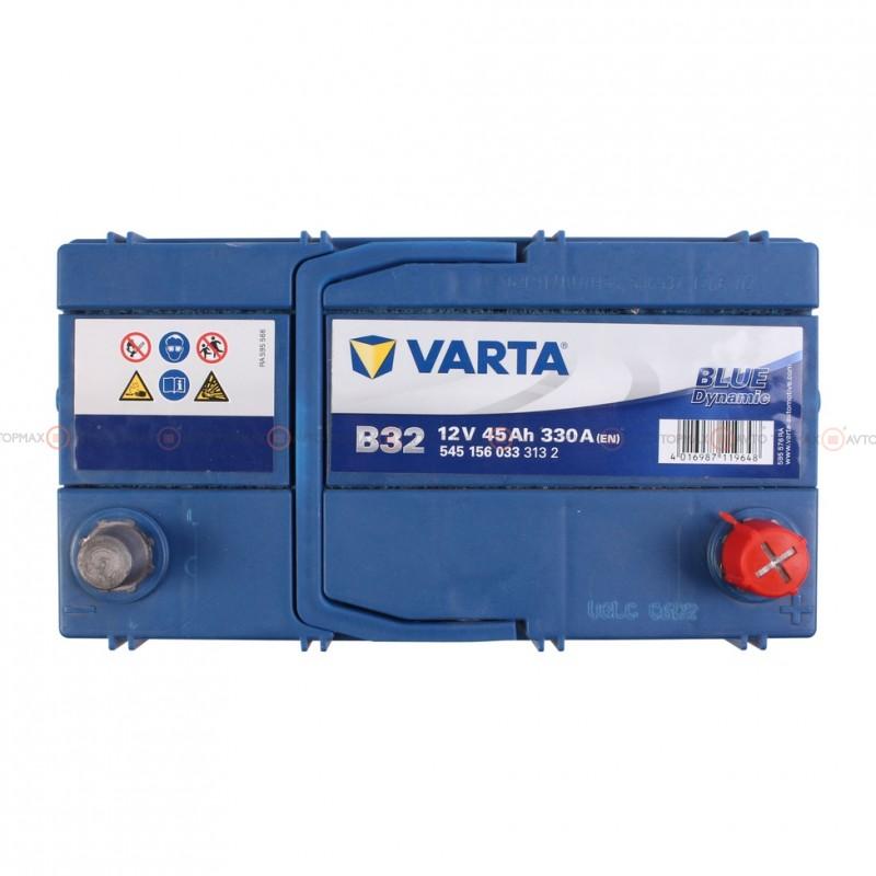 Аккумулятор VARTA Blue Dynamic 6CT 45Ah ASIA II-+II B32 545156033