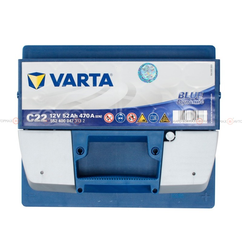 Аккумулятор VARTA Blue Dynamic 6CT 52Ah II-+II C22 552400047
