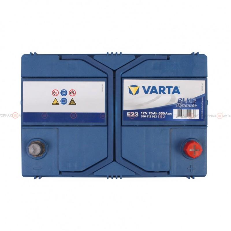 Аккумулятор VARTA Blue Dynamic 6CT 70Ah ASIA II-+II E23 570412063
