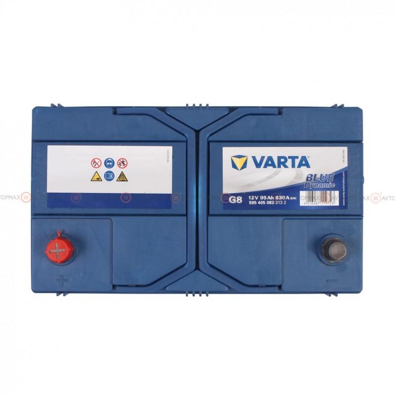 Аккумулятор VARTA Blue Dynamic 6CT 95Ah ASIA II+-II G8 595405083