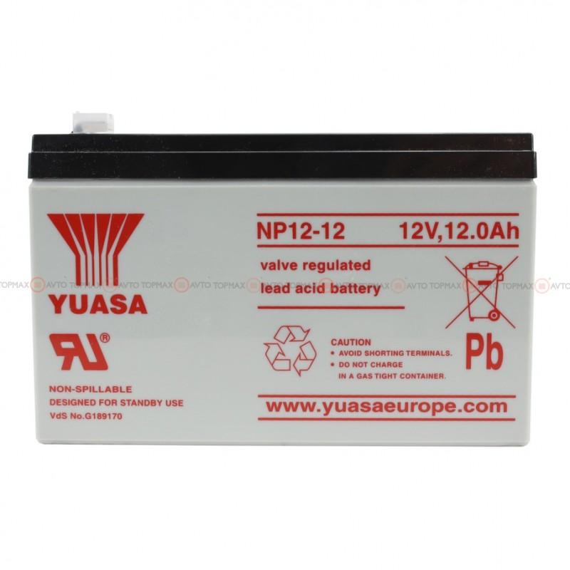 Аккумулятор YUASA 12Ah II+-II NP12-12