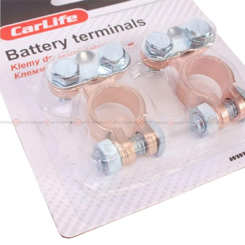 Клеммы CARLIFE цинк с медным покрытием легковые BT105
