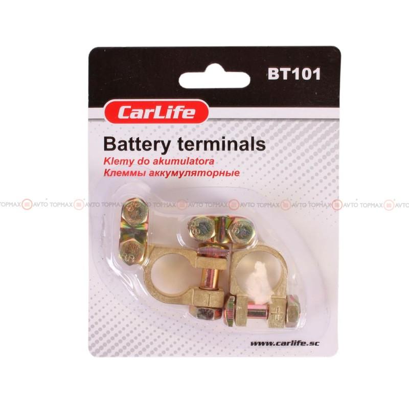 Клеммы CARLIFE цинк с латунным покрытием легковые BT101