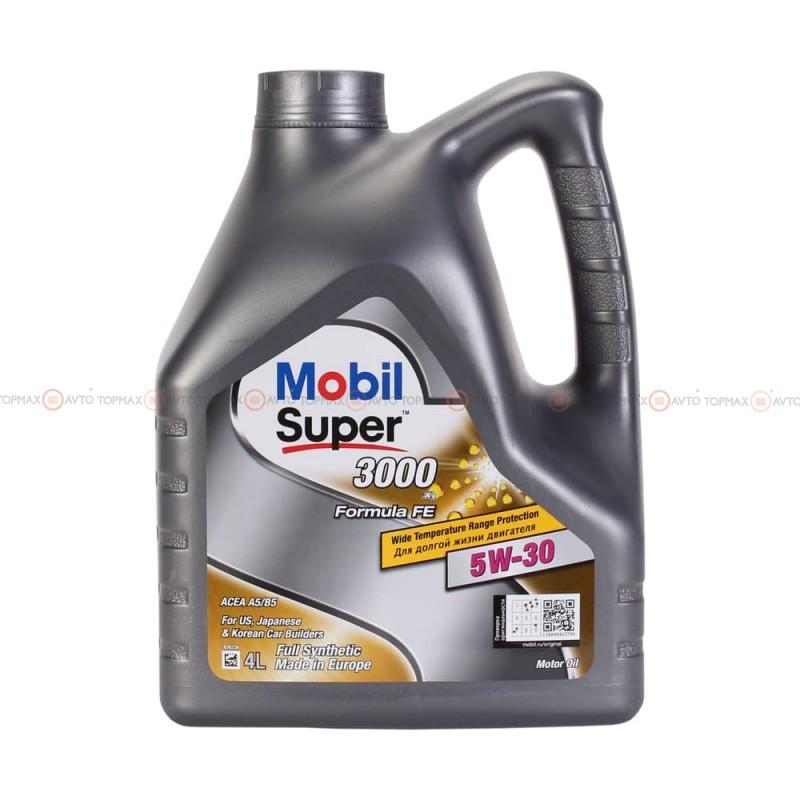Масло моторное Mobil Super 3000 FE 5W-30 4л