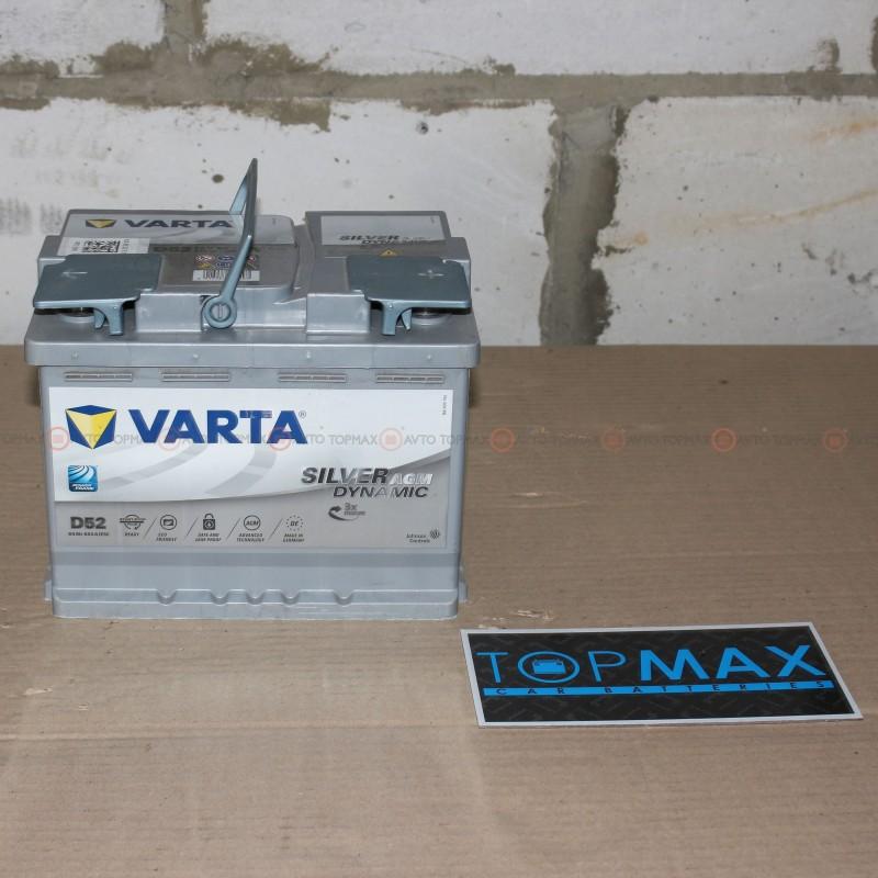 Аккумулятор VARTA Silver AGM 6CT 60Ah II-+II D52 560901068 (УЦЕНЕННЫЙ)