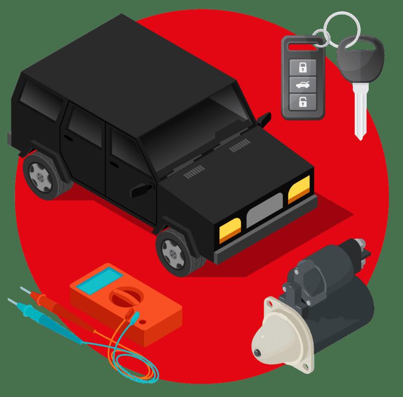 сколько берет автомобиль при запуске с аккумулятора
